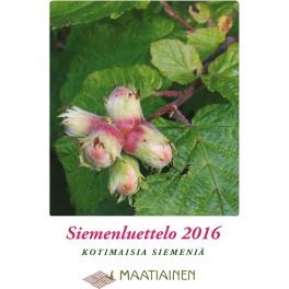 Siemenluettelo 2016